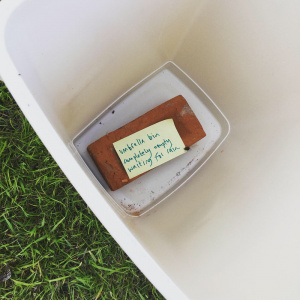 This haiku found its way to the bottom of the empty umbrella bin! Photo: Sadayasihi