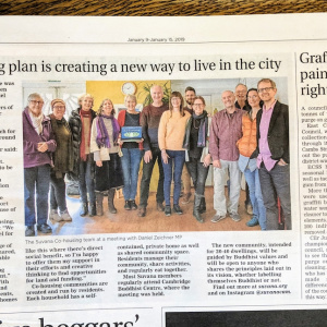 An article about the Suvana Cohousing Project in the 'Cambridge Independent'
