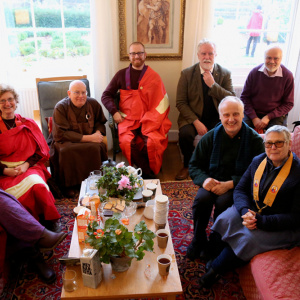 Some of the visitors from other Buddhist traditions who were hosted by Adhisthana