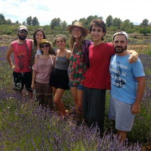 A walk through lavender during the Mainland Europe Young Buddhist Convention in Suryavana, Valencia in July 2018