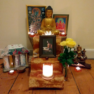 The current shrine in Silagandha