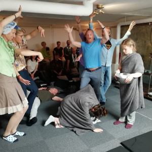 Oslo Sangha enact the story of Angulimala - Stockholm Buddhist Centre