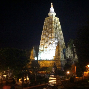 Mahabodhi Stupa At Night