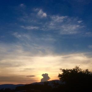 Sunset over Chintamani