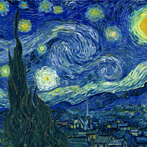Vincent Van Gogh - The Starry Night (Public Domain)