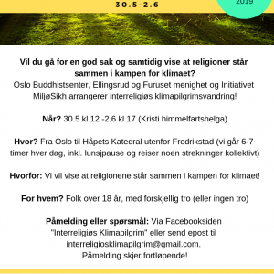 Interreligious Climat pilgrimage - in norwegian