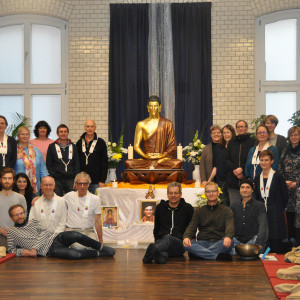 Some of the Berlin Sangha at Bhante's funeral event