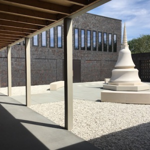stupa courtyard