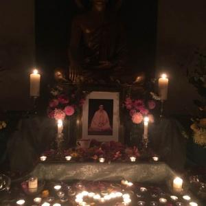 shrine on Bhante's birthday