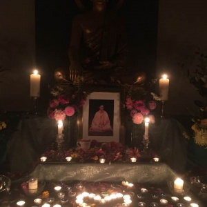 shrine on Bhante's birthday