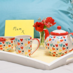 Multi Coloured Hearts Ceramics Range