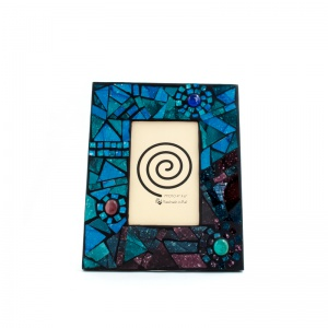 Turquoise & Plum Mosaic Frame - £10.00