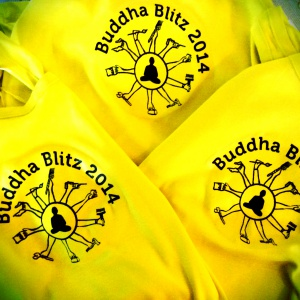 Ratnasambhava yelllo volunteer shirts