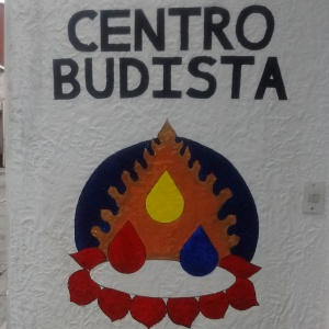 The recently painted sign outside the centre