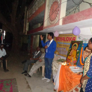 Aryaketu giving talk at the inauguration ceremony