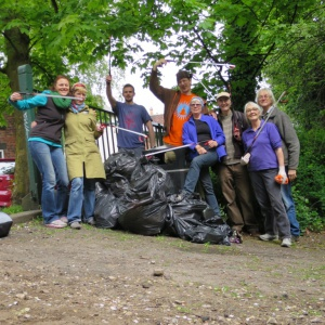 Result from 2 hours litter picking