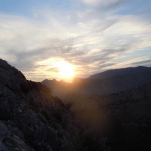Coucher de soleil à Guhyaloka