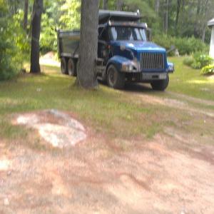 truck arriving