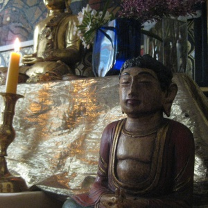 Buddha with a unique mudra