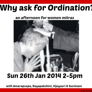 Why Ask for Ordination?