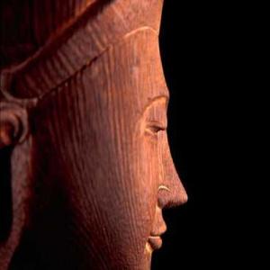 Burmese Buddha profile, Manchester Buddhist Centre