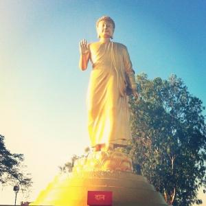Walking Buddha at Nagaloka