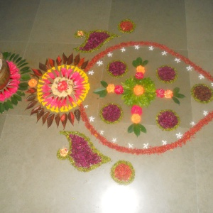 Indian Flower Petal Offerings