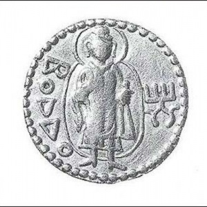 Kushan coin from 100 BC, the earliest surviving Buddha image