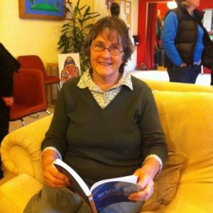 Barb Jones reading her son's book