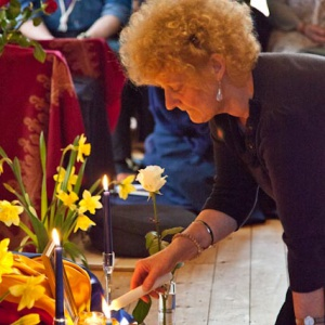 Suryadaya makes an offering, photo Steve Jackson