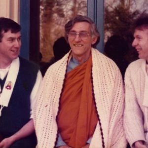 Pramodana,Bhante and Suvajra, public ordination 1985