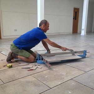 Yashodeva lays the floor