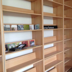 The shelving from Foyles