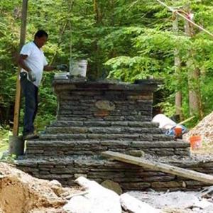The stupa grows