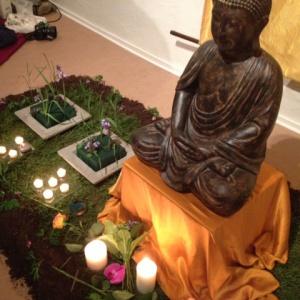 Buddha Day shrine in Stockholm