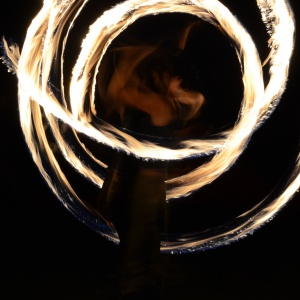 Fire poi spinning+