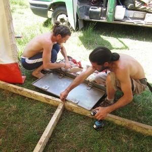 Building the Servery kitchen floor