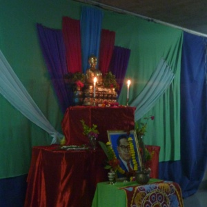 Shrine with Dr Ambedkar at the girls' hostel