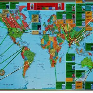 World Map of Triratna