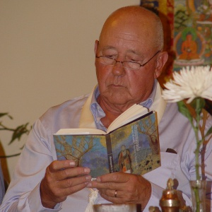 Surakshita offers a reading from the Dhammapada