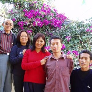 familjen Kaldhen, med Jampel längst till vänster.