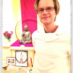 Al after his mitra ceremony on Sangha Day 2012