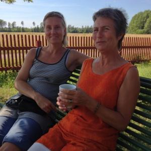 Viktoria & Shridaya på utflykt till Gysinge