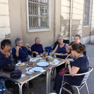 the original team at lunch in Tortosa