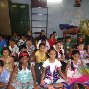 Approx.60 children's participated in meditation session.