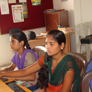 looking break through in her life by learning IT skills and living in community.