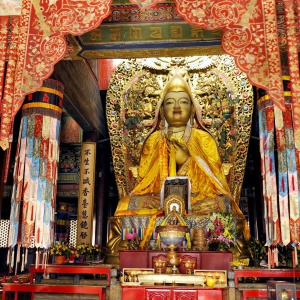 Tsongkhapa shrine in China