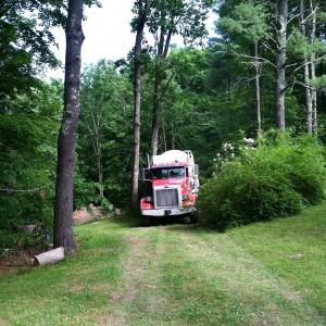 Cement truck arrives June 16