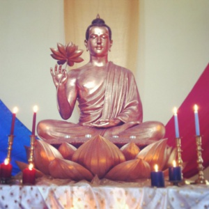 Triratna Sangha shrine at Birmingham Buddhist Center