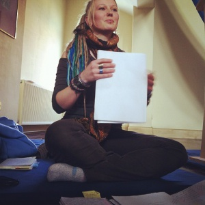 Kara gives a talk on Triratna as an alternative way of living